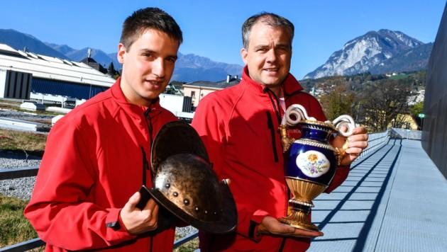 Joel Lanbach (links) und Helmut Zaggl erwarten am Wochenende wieder über 8000 Besucher. (Bild: zeitungsfoto.at)