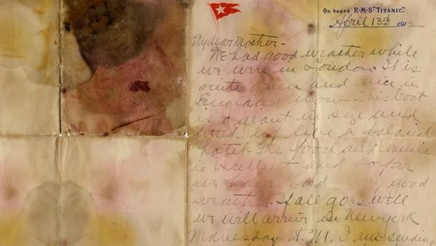 Dieser Brief wurde für 126.000 Britische Pfund versteigert. (Bild: Henry Aldridge and Son)
