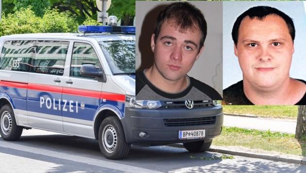 Die Mühlviertler Maximilian Baumgartner und Andreas Leitner (o.) werden seit September 2015 vermisst (Bild: Krone, Dostal)