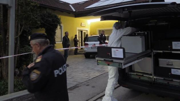 Der Tatort in St. Martin im Mühlkreis (Bild: Markus Schuetz)