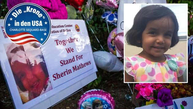 Musste Sherin Mathews sterben, weil sie ihre Milch nicht trinken wollte? (Bild: facebook.com, AP)