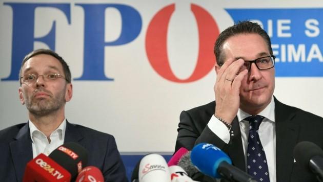 Herbert Kickl, Heinz-Christian Strache (Bild: APA/ROLAND SCHLAGER)