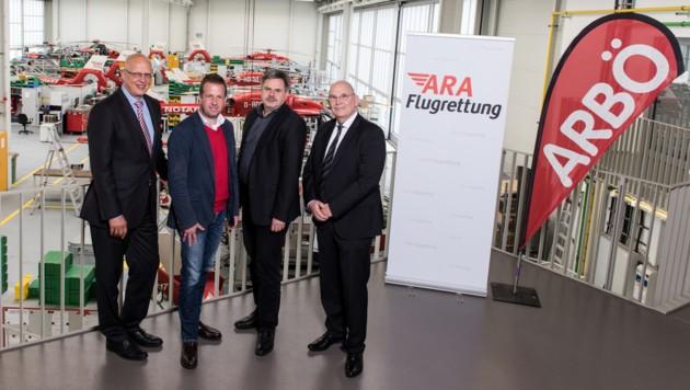 H. Eyrich (DRF), T. Jank, G. Schweizer (beide ARBÖ), P. Huber (ARA). (Bild: ARBÖ)