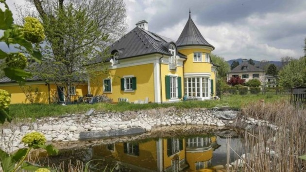 Die Villa von Krenn: Auf der Suche nach dem Vermissten wurde sogar der Teich ausgepumpt. (Bild: Markus Tschepp)