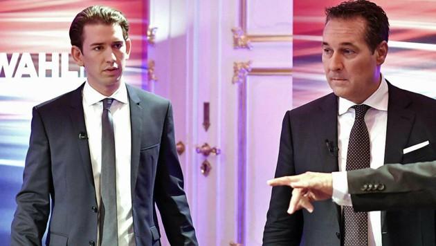 Schaffen Sebastian Kurz und Heinz-Christian Strache eine gemeinsame Koalition? (Bild: APA/HERBERT NEUBAUER)