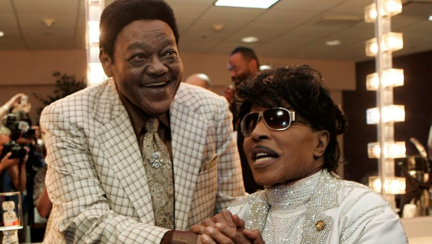 Fats Domino (links) mit Little Richard im Jahr 2009 (Bild: AP (File))