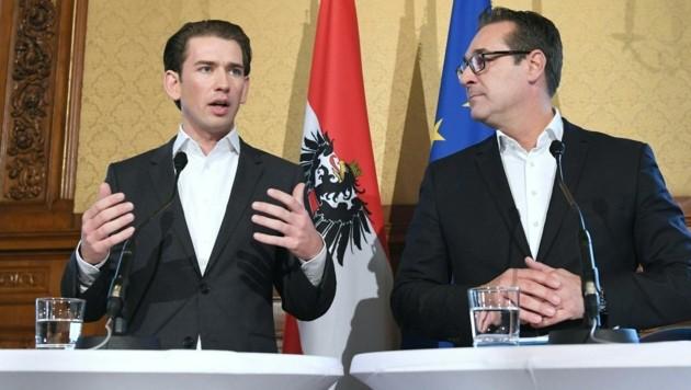 Die Chefs von ÖVP und FPÖ: Sebastian Kurz und Heinz-Christian Strache (Bild: APA/HELMUT FOHRINGER)