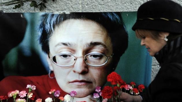 Anna Politkowskaja dürfte zu kritisch über Tschetschenien berichtet haben, sie wurde 2006 ermordet. (Bild: AFP)