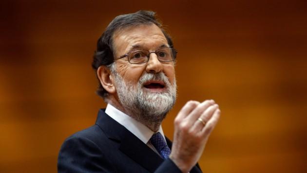 """Spaniens Regierungschef Mariano Rajoy bedauert, dass es """"so weit gekommen ist"""". (Bild: APA/AFP/OSCAR DEL POZO)"""