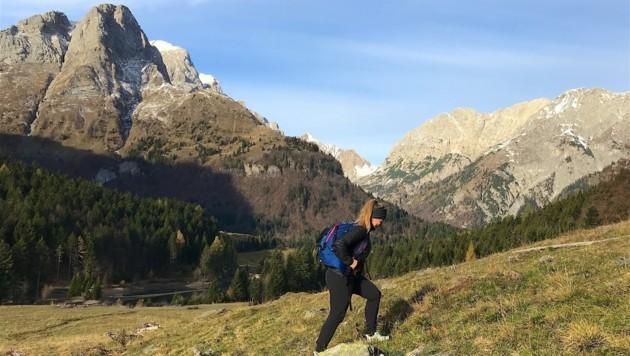 Aufstieg durch das Angerbachtal, vorbei am Grünsee (Bild: Hannes Wallner)