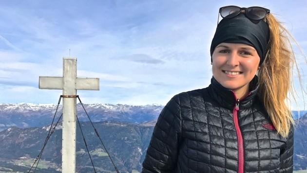 Sophie Engl am Gipfel des Gailtaler Polinik (Bild: Hannes Wallner)
