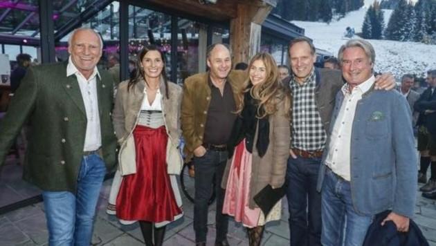 Didi Mateschitz, Marion Feichtner, Gerhard Berger und Helene, Heinz Kinigadner sowie Hermann Tomczyk (Bild: Markus Tschepp)