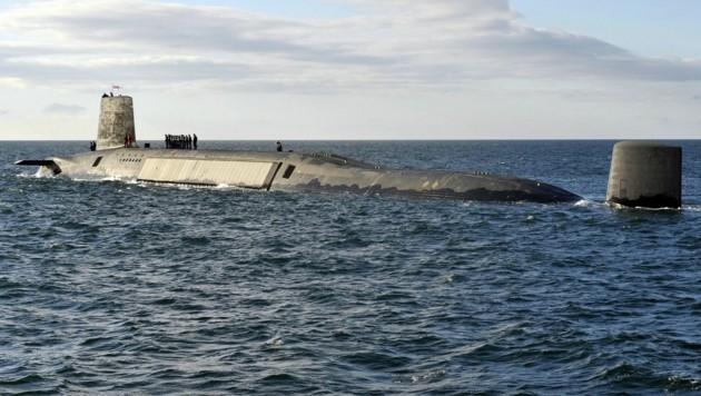 Großbritannien verfügt über vier Atom-U-Boote mit Interkontinentalraketen vom Typ Trident. (Bild: AFP)