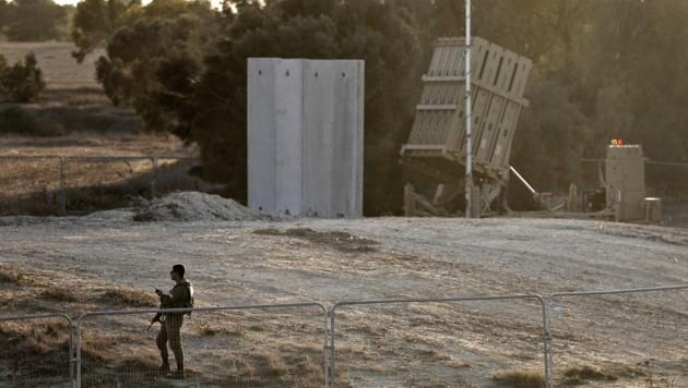 Das israelische Raketenabwehrsystem Iron Dome (Bild: AFP)