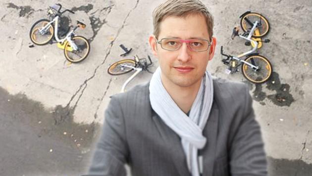 Wiens Fahrradbeauftragter Martin Blum (Bild: Martin A. Jöchl, krone.at-Grafik)