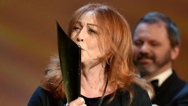 Nestroy: Andrea Jonasson (Beste Schauspielerin) (Bild: APA/HANS PUNZ)