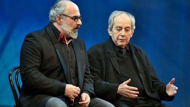 Nestroy: Michael Niavarani und Otto Schenk (Bild: APA/HANS PUNZ)