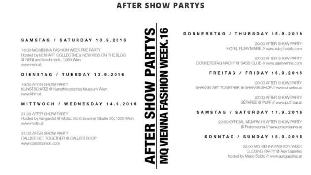 Die After-Show-Partys (Bild: MQ Vienna Fashion Werek)