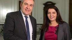 GÖD-Vorsitzender Norbert Schnedl und Staatssekretärin Muna Duzdar (SPÖ) (Bild: APA/BKA/Christopher Dunker)