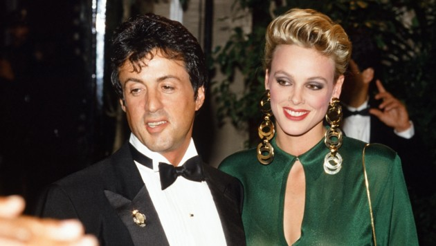 Sylvester Stallone und seine damalige Brigitte Nielsen zirka 1985 (Bild: Hollywood Picture Press/face to)