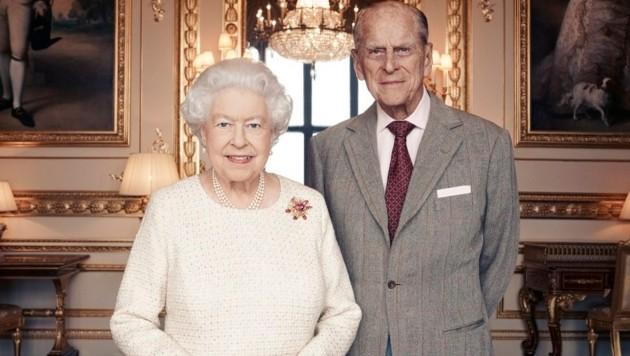 Porträt zum 70. Hochzeitstag von Königin Elizabeth II. und Prinz Philip am 20. November 2017 (Bild: EPA)