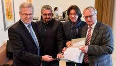 Die Gewerkschafter Peter Csar, Andreas Stangl, Engelbert Eckhart und Norbert Haudum (v.l..) (Bild: Dostal)