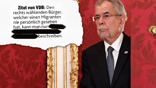 """Verwirrung um Van der Bellens vertrauliche Gespräche mit EU-Diplomaten über Türkis-Blau (Bild: APA/HANS KLAUS TECHT, """"Krone"""", krone.at-Grafik)"""