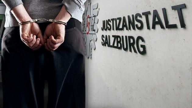 Er wurde in die Justizanstalt gebracht (Bild: Markus Tschepp, stock.adobe.com, krone.at-Grafik)