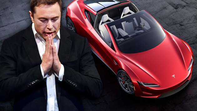 (Bild: APA/AFP/PETER PARKS, Tesla, krone.at-Grafik)