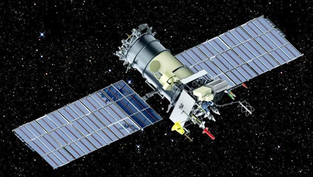 """Illustration: Ein Wetter-Satellit vom Typ """"Meteor-M"""""""