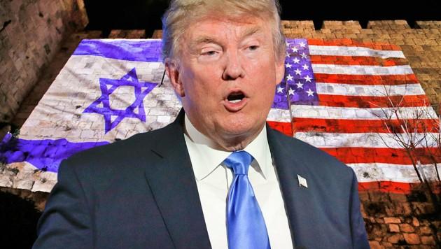 """Israel sieht in Trumps Erklärung ein """"Geschenk"""" anlässlich des 70. Jahrestags der Unabhängigkeit. (Bild: AP, AFP)"""