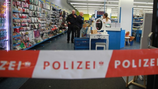 Tatort: Ein Shop im Einkaufszentrum Linz/Auwiesen. (Bild: Christoph Gantner)