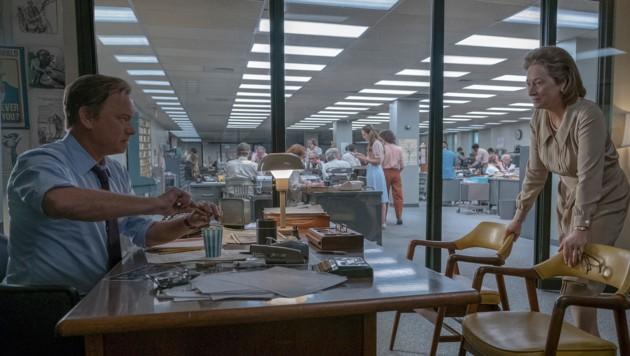 """Tom Hanks und Meryl Streep in """"Die Verlegerin"""" (Bild: AP)"""