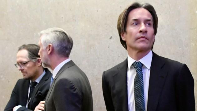 Karl-Heinz Grasser stehen noch zahlreiche lange Verhandlungstage bevor. (Bild: APA/HANS KLAUS TECHT/APA-POOL)