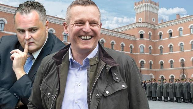 Hans-Peter Doskozil (SPÖ) Mario Kunasek (FPÖ) (Bild: APA, krone.at-Grafik)
