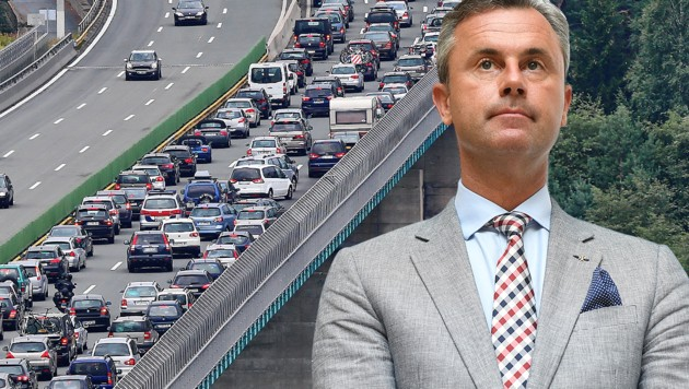 Infrastrukturminister Norbert Hofer (FPÖ) (Bild: APA/HELMUT FOHRINGER, Christof Birbaumer, krone.at-Grafik)