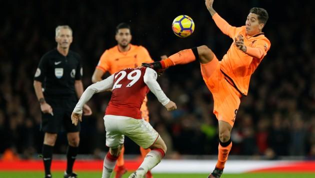 Firmino (Liverpool) gegen Xhaka (Arsenal) (Bild: AP)