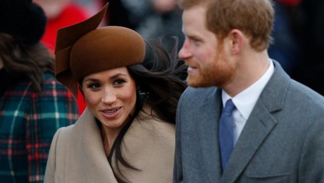 Meghan Markle und Prinz Harry (Bild: AFP)