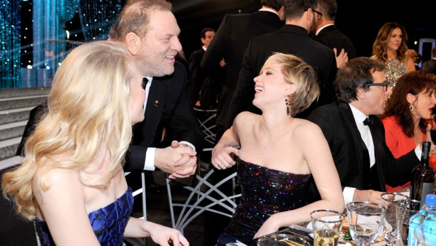 Jennifer Lawrence mit Harvey Weinstein