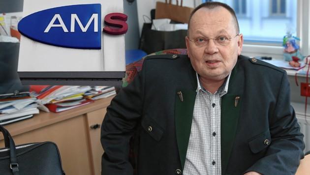 Alois Oberhauser, Geschäftsstellenleiter des AMS am Währinger Gürtel (Bild: Peter Tomschi, krone.at-Grafik)