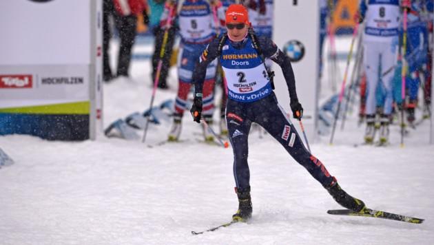 Kuzmina beim Rennen in Hochfilzen (Bild: GEPA)