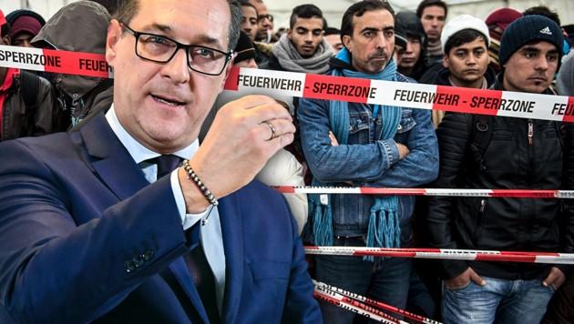 Strache will Asylwerber in Kasernen unterbringen