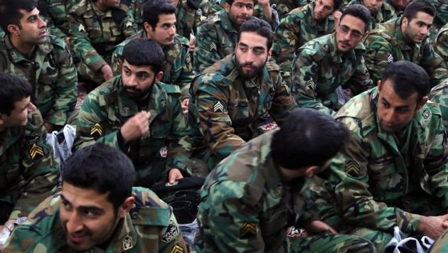 Mitglieder der iranischen Revolutionsgarden (Bild: AFP)