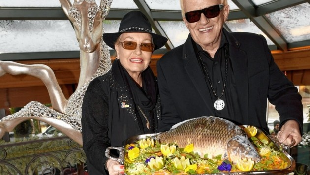 Glücklich: Heino und Hannelore in der Tenne