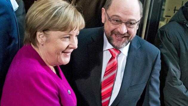 Angela Merkel und Martin Schulz (Bild: ASSOCIATED PRESS)
