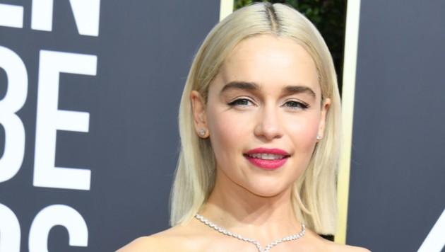 Emilia Clarke bei den 75. Golden Globes (Bild: AFP)