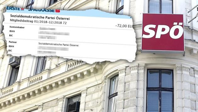 Obwohl die ehemalige rote Funktionärin mehrmals schriftlich die Kündigung ihrer Parteimitgliedschaft einreichte, buchte ihr die SPÖ den Jahresbetrag von 72 Euro für dieses Jahr ab.
