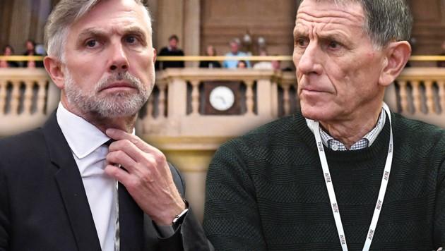 Walter Meischberger (links) und Peter Hochegger