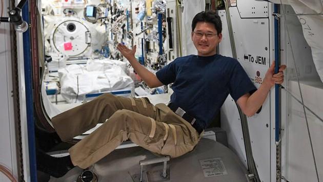 Norishige Kanai an Bord der Internationalen Raumstation ISS