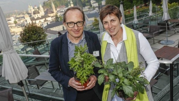 BL-Klubchef Helmut Hüttinger & Astrid Rössler
